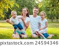 family, park, happy 24594346