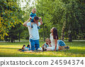 family, park, picnic 24594374