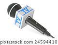 microphone tv, 3D rendering 24594410