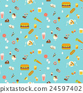 Yummy snacks seamless pattern 24597402