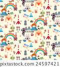 Japan travel seamless pattern 24597421