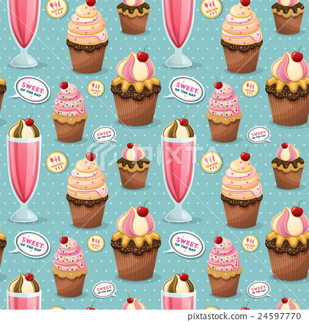 Sweets seamless pattern 24597770