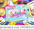 Switzerland on map 24598354