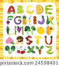 alphabet of fruit 24598401