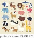 cartoon animals set 24598521