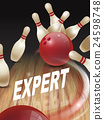 strike bowling 3D illustration 24598748