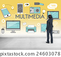 Multimedia Communication Connection Technology Devices Concept 24603078