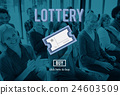 Lottery Bet Betting Jackpot Lucky Money Scratch Concept 24603509