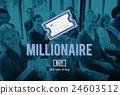 Millionaire Prize Ticket Lottery Concept 24603512