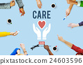 Care Give Charity Share Donation Foundation Concept 24603596