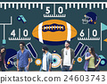 American Football Team Field Yard Pumped Sports Concept 24603743