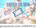 Enter Win Betting Pay Lottery Jackpot Lucky Concept 24604415
