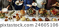 Food Cuisine Culinary Buffet Party Concept 24605106