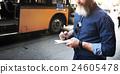 Bus Tourist Travel Wanderlust Adventure Diary Concept 24605478