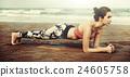 Yoga Exercise Active Beach Outdoor Concept 24605758
