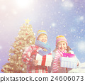 Christmas Children Gifts Happiness Concept 24606073