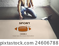 Touchdown Sport American Football Power Speed Strategy Concept 24606788