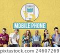Mobile Phone Cellphone Cellular Communicate Concept 24607269
