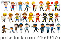 Set of people in different occupations 24609476