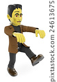 3D Funny monster. Frankenstein walking. Halloween 24613675