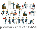 Set of six vector illustration of businessman  24615654