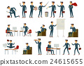 Set of six vector illustration of businessman 24615655
