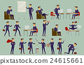 Set of six vector illustration of businessman 24615661
