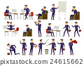 young cartoon businessman in suit vector art 24615662