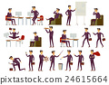 young cartoon businessman in suit vector art 24615664