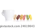 Colorful macaroons and cup 24619643
