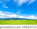 夏季天空 田園 田園風景 24620724