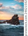 Easter Island rocky coast. 24621502