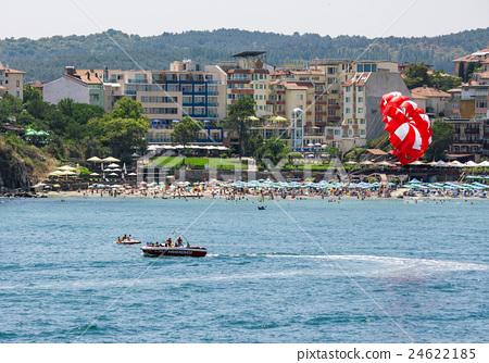 parasailing over the sea beach 24622185