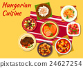 Hungarian cuisine signature dishes icon 24627254