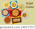 Polish cuisine icon with rich meat dishes 24627257