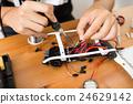 Welding on drone body 24629142