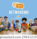 Networking Connection Global Communications Onlnie Concept 24631219