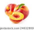 Nectarine with leaf 24632809
