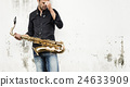 Jazzman Musical Artist Playing Saxophone Concept 24633909