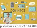 Connect Connection Devices Technology Communicztion Concept 24634388