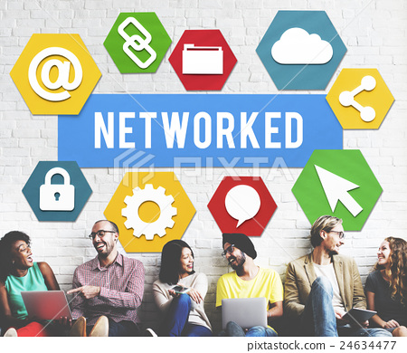 Networked Networking Internet Connection Concept 24634477