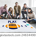 Play Quarterback Rugby American Football Concept 24634490