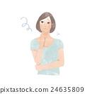 女性面部例證 24635809