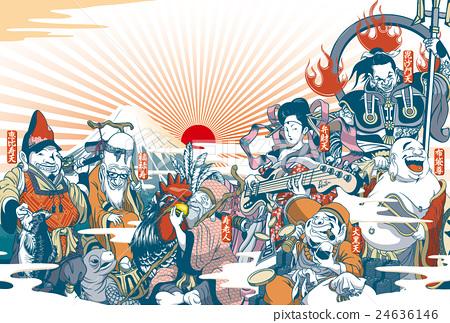 """2017年新年贺卡""""有点不寻常的七神之神""""演讲·注释空间免费空海报风景 24636146"""
