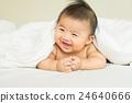 Cute newborn asian girl sleeping in the room 24640666