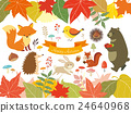 Illustration of autumn forest (3) 24640968