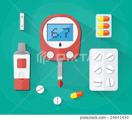 Blood Glucose Test, strip and pills, Diabetes set 24641430