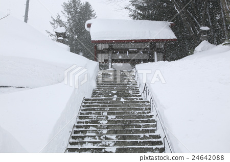 A shrine in the snow 24642088