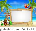 Beach Christmas Santas Reindeer 24645338
