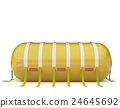 yellow cylindrical pontoon 24645692